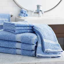 Member's Mark Commercial Bath Towels, Blue (Set of 6)