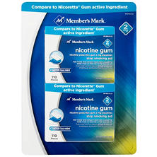 Member's Mark 2mg Nicotine Gum, Ice Mint (220 ct.)