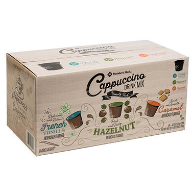 mark cappuccino variety pack 053 oz cups 54 ct