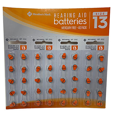 Members Mark Hearing Aid Batteries, Size 13 (40 ct.)
