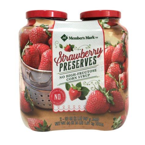 Member's Mark Strawberry Preserves (32 oz., 2 ct.)