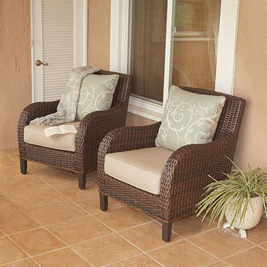 Member's Mark Wicker Patio Club Chairs, Set of 2