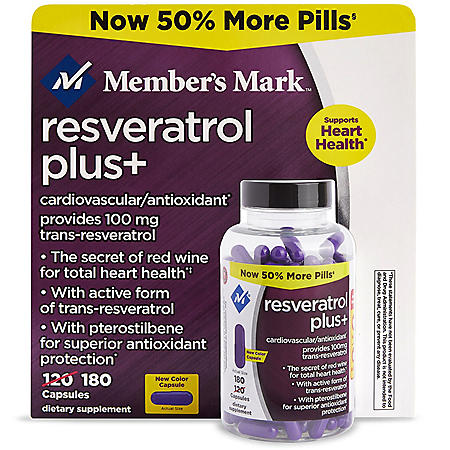 Member's Mark 100mg Resveratrol Plus+ Dietary Supplement (180 ct.)