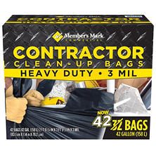 Member's Mark Commercial Contractor Clean-Up Bags (42 gal., 42 ct.)