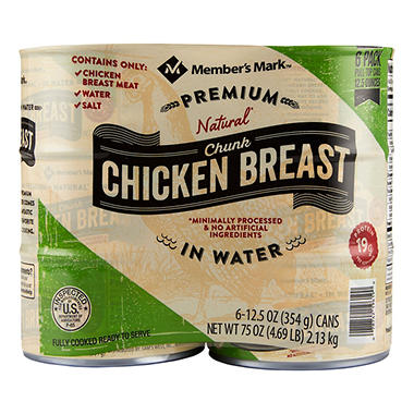 Member's Mark Premium Chunk Chicken Breast (12.5 oz., 6 ct.)