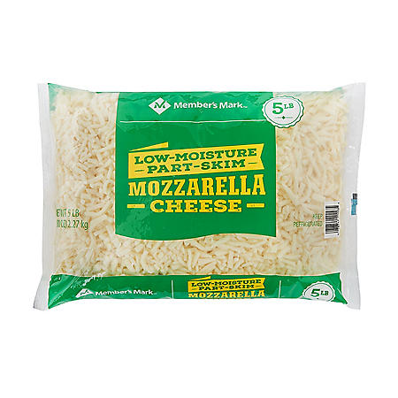 Member's Mark Part-Skim Shredded Mozzarella Cheese (5 lbs.)
