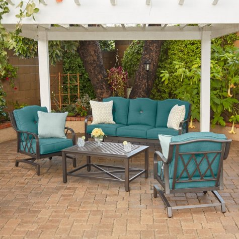 Member's Mark Miller's Creek Sunbrella Seating Set-Cast Lagoon