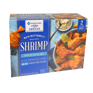 Member's Mark Raw Butterfly Breaded Shrimp (5 lbs.)