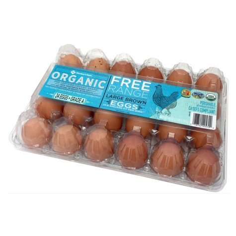 Member's Mark Free Range Organic Large Brown Eggs (24 ct.)