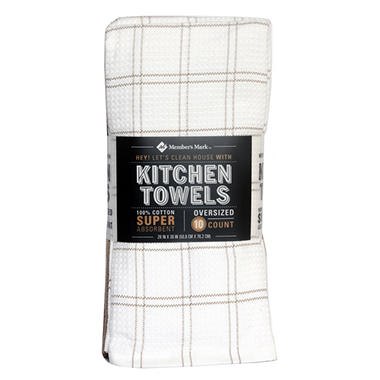 Member's Mark 100% Cotton Kitchen Towel, 10-pack (Assorted Colors)