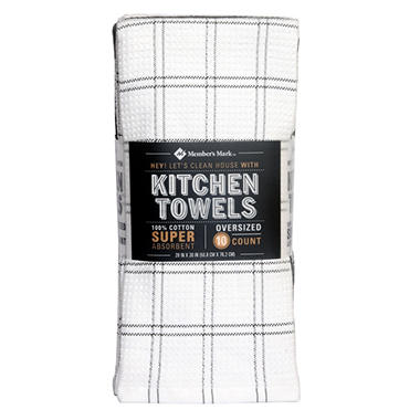 Member S Mark 100 Cotton Kitchen Towel 10 Pack Orted Colors