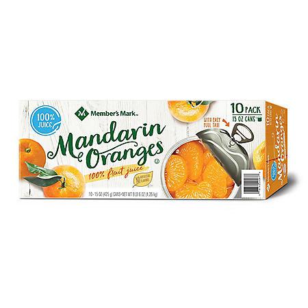 Member's Mark Mandarin Oranges (15 oz. cans, 10 pk.)