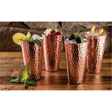 Member's Mark 20 oz. Double-Wall Copper-Plated Tumblers (4 pk.)
