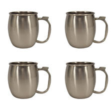 Member's Mark 20 oz. Stainless Steel Moscow Mule Mug, Set of 4 (Assorted Colors)