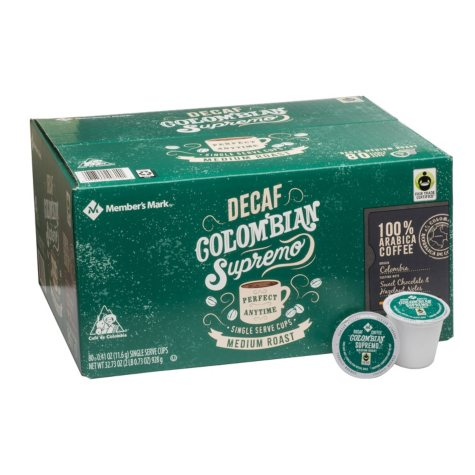 Member's Mark Decaffeinated Colombian Coffee (80 single-serve cups)