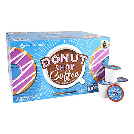 Member's Mark Donut Shop Coffee, Single-Serve Cups (100 ct.)