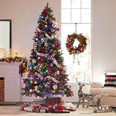 sams exclusive members mark 75 color changing virginia pine christmas tree - Real Looking Christmas Tree