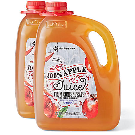Member's Mark 100% Apple Juice (128 fl. oz., 2 ct.)