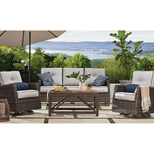 Member's Mark Agio Fremont 4-Piece Patio  Deep Seating Set with Sunbrella Fabric - Silver