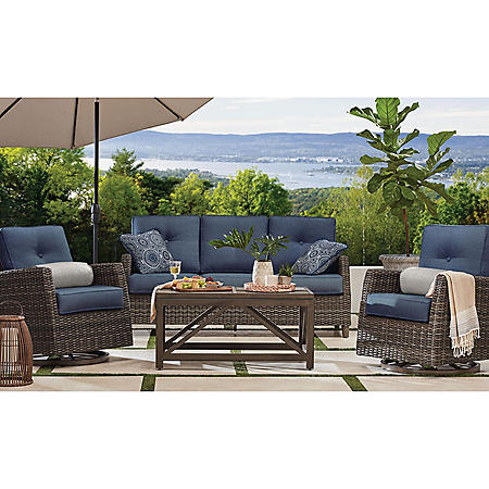 Members Mark Agio Fremont 4 Piece Patio Deep Seating Set