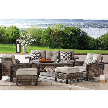Member S Mark Agio Manchester 6 Piece Patio Deep Seating Set With