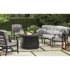 Member S Mark Agio Hastings 4 Piece Curved Deep Seating Set With