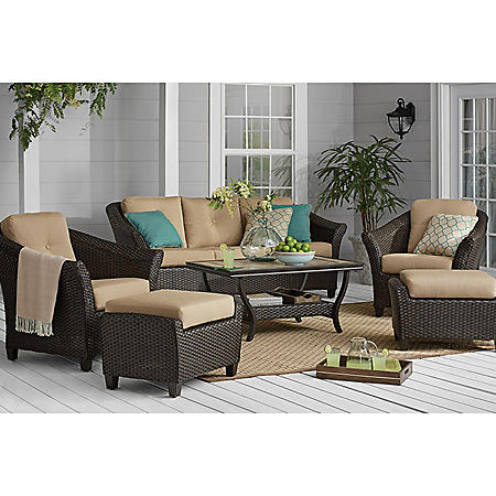 Member's Mark Agio Toronto 6-Piece Patio Deep Seating Set with Sunbrella Fabric