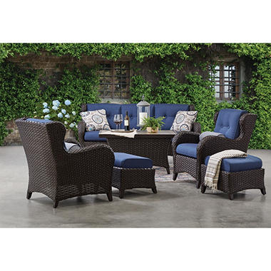 Member S Mark Agio Heritage 6 Piece Deep Seating Patio Set With