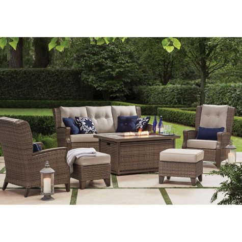 Member's Mark Agio Newcastle 6-Piece Patio Deep Seating Set with Sunbrella® Fabric