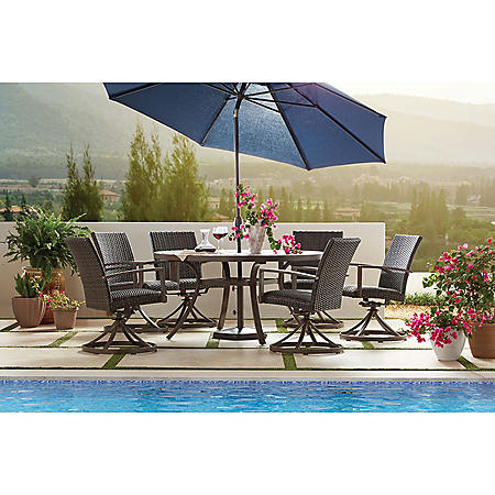 Member S Mark Agio Fremont 7 Piece Patio Dining Set Sam