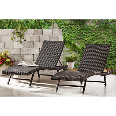 Member S Mark Agio Heritage Woven Chaise Lounge 2 Pack