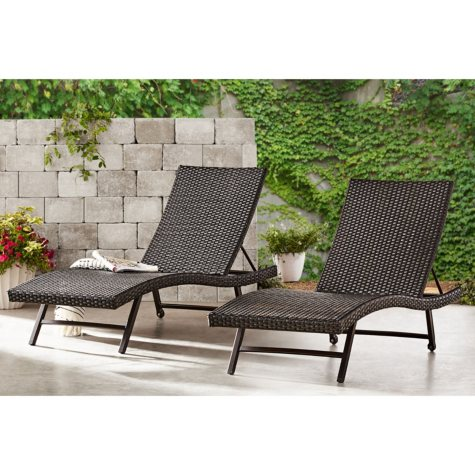 Member's Mark Agio Heritage 2-Pack Woven Chaise Lounge