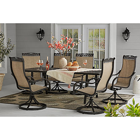 Member S Mark Harbor Hill 7 Piece Sling Dining Set Sam S