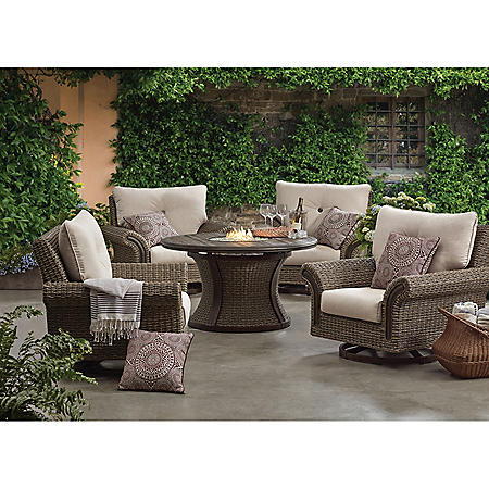 Member S Mark Mystic Ridge 5 Piece Gas Firepit Chat Set