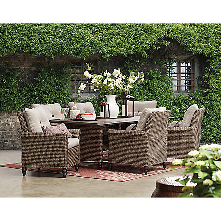 Member S Mark Mystic Ridge 7 Piece Dining Set Sam S Club