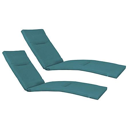 Member's Mark Sunbrella Chaise Lounge Cushion 2 Pack