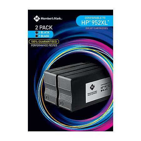 Member's Mark Remanufactured HP 952XL (2 pk., 2 Black Ink Cartridges)