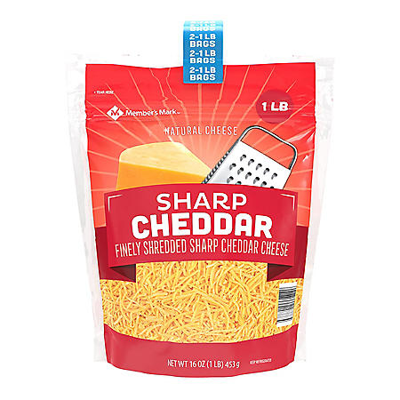 Member's Mark Sharp Cheddar Finely Shredded Cheese (16 oz., 2 pk.)
