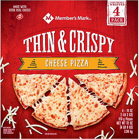 Member's Mark Thin Crust Cheese Pizza (4 ct.)