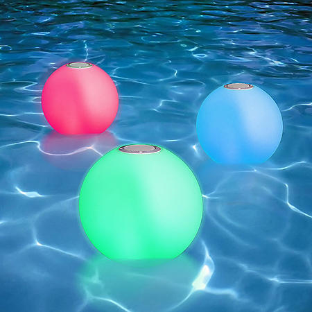 Portable LED Floating Swimming Pool Ball with Bluetooth Speaker