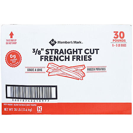 "Member's Mark 3/8"" Straight Cut French Fries, Frozen (30 lbs.)"