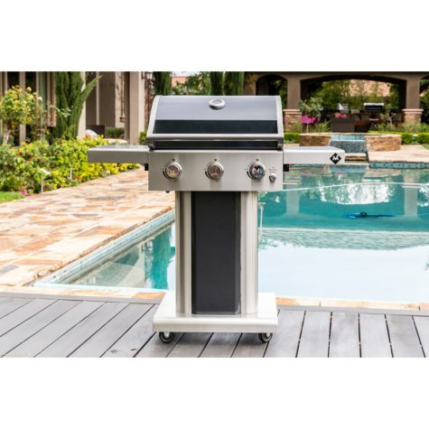 Member's Mark3-Burner Gas Grill with Stainless Steel Foldable Side Shelves - Various Colors