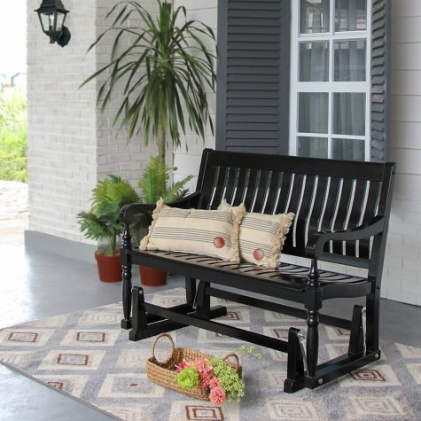 Member's Mark Painted Wood Glider Bench, Black