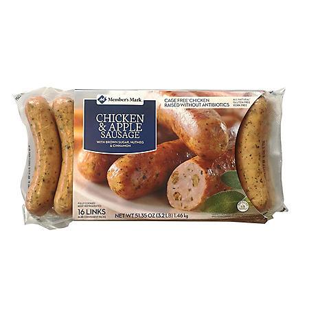 Member's Mark Chicken & Apple Gourmet Sausage (16 links)