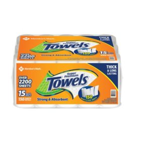 Members Mark Super Premium Paper Towels 15 Rolls 150 Sheets Per