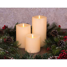 Member's Mark Moving Flame Candles, Set of 3