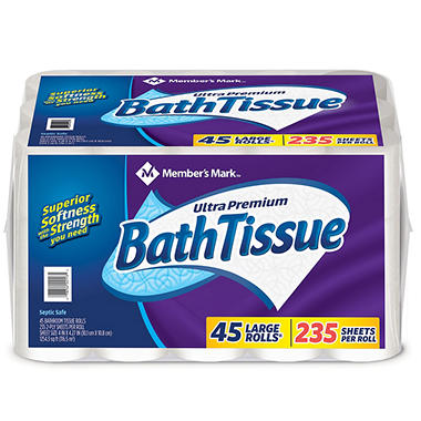 Member S Mark Ultra Premium Bath Tissue 2 Ply Large Roll 235 Sheets
