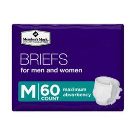 Member's Mark Unisex Briefs, Medium (60 ct.)