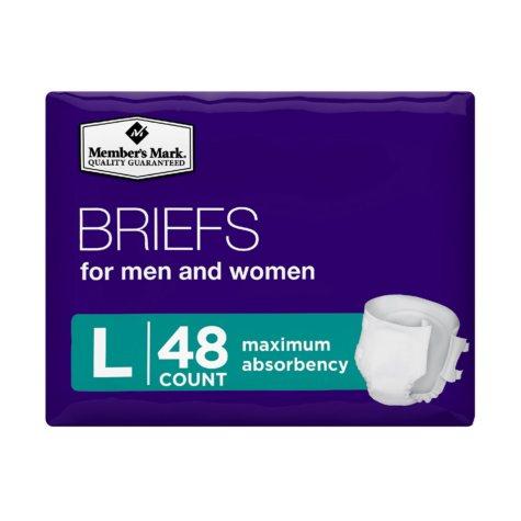 Member's Mark Unisex Briefs, Large (48 ct.)