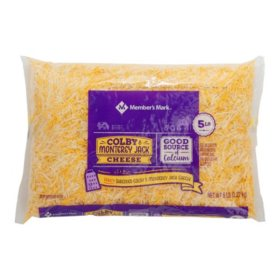 Member's Mark Colby Jack Cheese, Fancy Shred (5 lbs.)